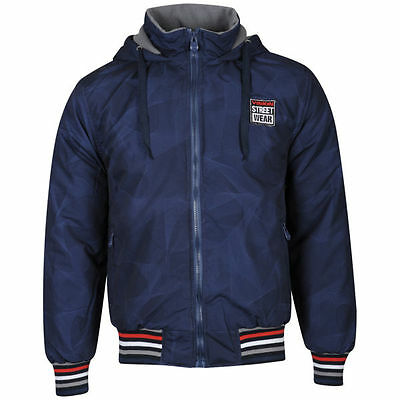 Vision Street Wear Men's Hooded AOP Jacket - French Navy
