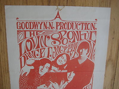 FILLMORE POSTER era THE LOVIN' SPOONFUL CHOCOLATE WATCHBAND handbill