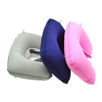 Flight Support Cushion Inflatable Head & Neck Hot Rest Travel Neck Pillow Soft