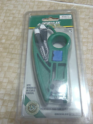 greenlee utp/coax stripper for coax cable
