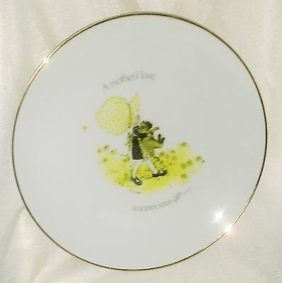 "Holly Hobbie Porcelain round dinner plate ""A Mother's Love Is A Precious Gift"""