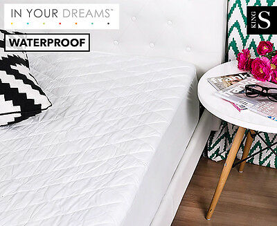 Waterproof King Single Quilted Mattress Protector - White