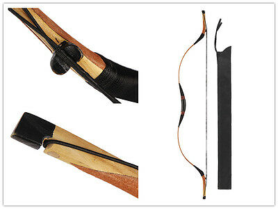 Chinese Traditional Archery Hunting Recurve Bow Pigskin Longbow 20-60lb-110lb