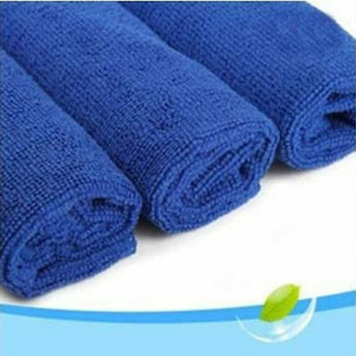 Blue Absorbent Wash Cloth Car Care Microfiber Cleaning Towels Cloth home clean