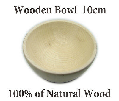 Plain Wood 100% Natural Wooden BOWL 10cm, DECOUPAGE,  Shipping WorldWide