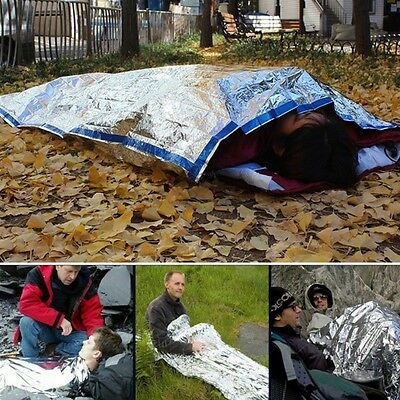 Rescue Thermal Space Sleeping Bag Blanket Useful Emergency Survival Outdoor Kit