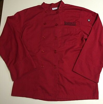 Chef Works Large Red Culinary Chef Jacket Coat
