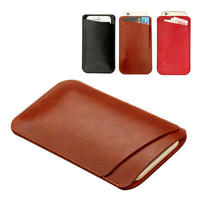Premium Slim PU Leather Pouch / Sleeve Case Cover for Apple iPhone 7 6/6s 7 Plus