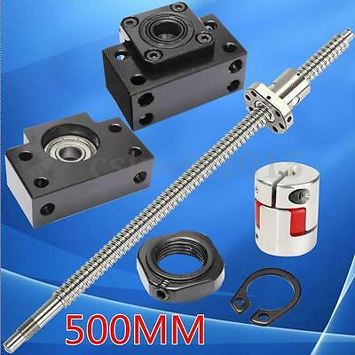 Ball Screw 1605 -L500mm +Ballnut + couplers + 2 Supporting  Seat for CNC Machine
