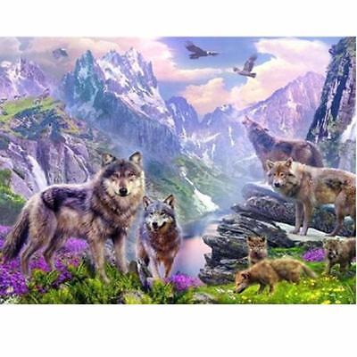 DIY 5D Full Diamond Painting Wolf Embroidery Cross Stitch Kit Home Decor Crafts