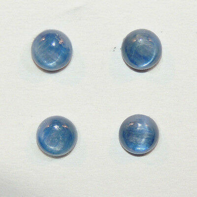 Kyanite 8mm with 4mm dome Cabochons Set of 4 (11073)