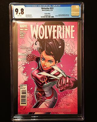 Wolverine #315 Cgc 9.8 Mt/nm Wp X-23 Susan G Komen Pink Ang Variant Cover Marvel