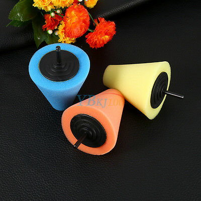 1PCS Foam Polishing Cone Shaped Buffing Pads for Wheels - Use with Power Drill