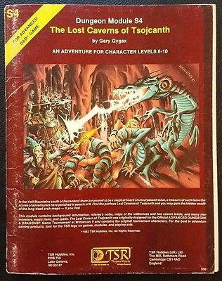 AD&D 1982 S4 THE LOST CAVERNS OF TSOJCANTH Dungeons Dragons TSR9061 Complete VG