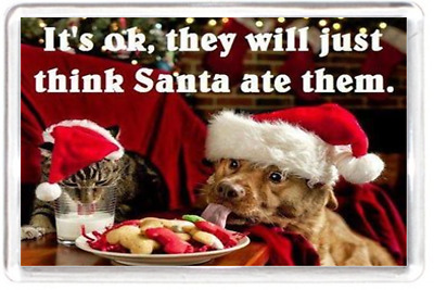 Christmas Santa Dog Cookie Food Costume Quotes Saying Gift Present Novelty