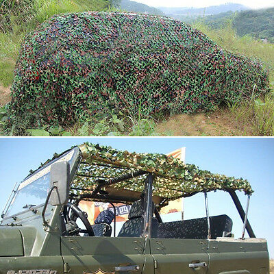 1x Woodland Leaves Camouflage Camo Blinds Net Netting Camping Military Hunting