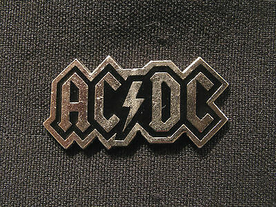 Small 1990 Vintage Ac/dc Logo Pin Official Made In Canada
