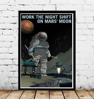 8 NASA Mission 2 Mars Outer Space Travel Recruitment Prints 18x24 SET of EIGHT