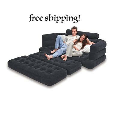 Pull Out Sofa Queen Size Bed Airbed Camp In-Outdoor Inflatable Guest Mattress US