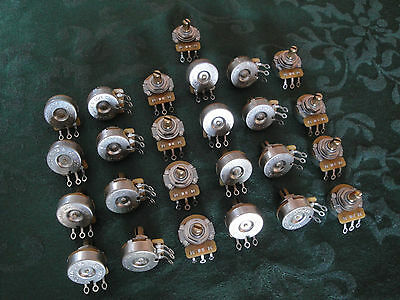 "25 Cts 250K Potentiometers Pots 1/4"" .250"" Threaded Bushing Strat Tele Parts Pro"