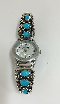 Native American sterling silver handmade Turquoise Watch