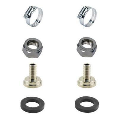 "2 Sets Draft Beer Tubing Tailpiece Barb Hex Nut Clamp Nipple Kit - 3/16"" Inch ID"