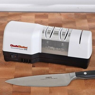 Electric Knife Sharpener Professional Diamond Hone 3 Stage Sharp Kitchen Knives