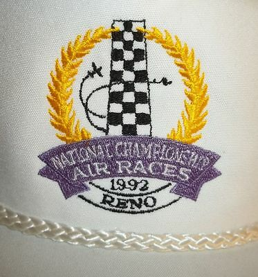 """Reno Air Races Hat """" 1992 Reno"""" White Hat One Size Fits All. Free Shipping"""