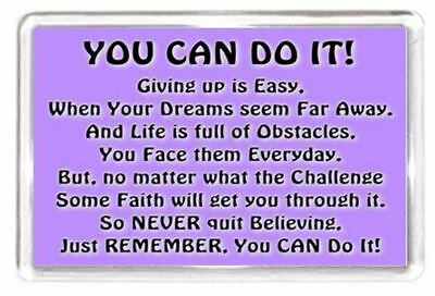 Fridge Magnet Easy Life Hard Motivate Challenge Push Grow Quote Saying