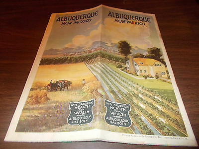 1915-era Albuquerque 26-Page Color Travel Booklet with Great Pictures and More !