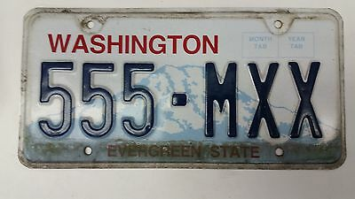 EXPIRED WASHINGTON The Evergreen State License Plate 555-MXX