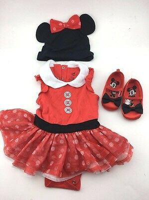 Disney Baby Minnie Mouse Halloween Costume 12-18 Month(lightly used once) nice