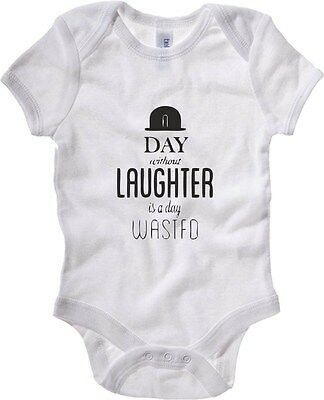 Body neonato CIT0051 Charlie Chaplin A day without laughter is a day wasted