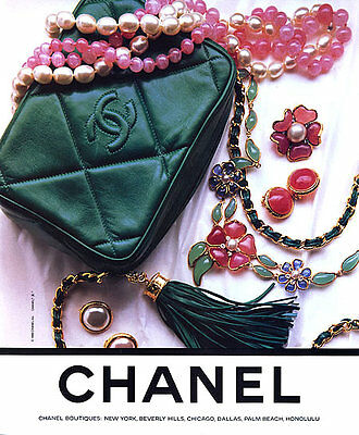 1988 Chanel Accessories bags jewelry necklace MAGAZINE AD