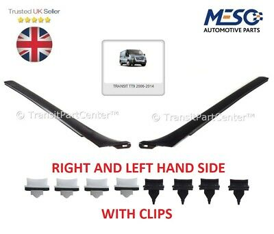 A Pair Of Windshield Windscreen Moulding Trim Ford Transit Mk7 2006-2014