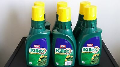 6 Bottles - Killex Lawn Weed Control - Herbicide - Concentrate - 1 L X 6