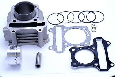 60cc Scooter Cylinder and  Piston Set 44mm 139QMB 4 stroke Engine 3014