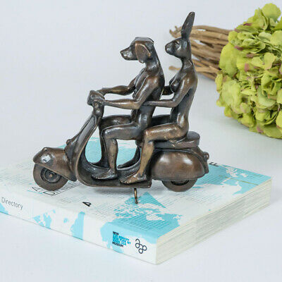 GILLIE AND MARC - direct from artists - bronze sculpture - limited edition vespa