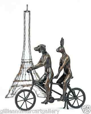 GILLIE AND MARC - direct from artists - limited edition bicycle bronze sculpture