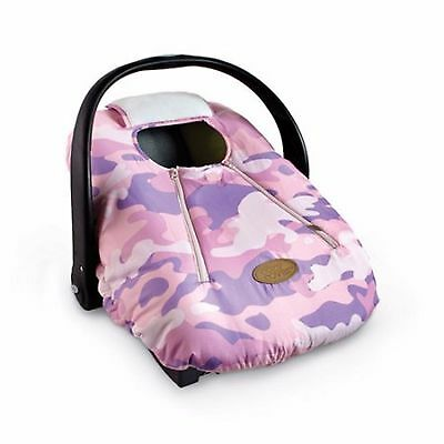 Cover Cozy Pink Camo Quilt Car Seat Carrier Baby Shower Gift for Winter Zip Up