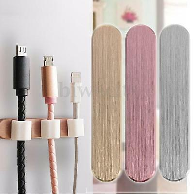 Alloy Magnetic Wire Cord Cable Organizer Holder Management Cable Clips + 3 Clips