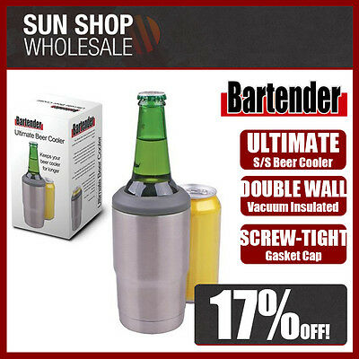 Genuine! D.LINE Bartender Stainless Steel Vacuum Insulated Ultimate Beer Cooler!