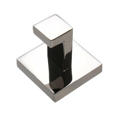 304 Stainless Square Mirror Polish Towel Robe Holder Hook Bath Wall Hanger WS