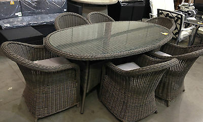 MILAZZO 6 SEATER Rattan Effect Garden Furniture Set only £549.99 ...
