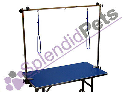 "BLUE 48"" XL Large Emperor Fold Flat Dog Grooming Table inc H-Frame & Noose"