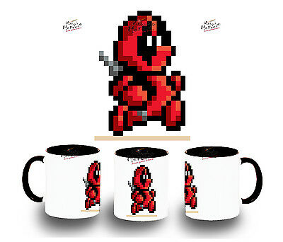 TAZA NEGRA DEADPOOL RETRO TOY MUG tazza tasse es