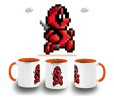 TAZA NARANJA DEADPOOL RETRO TOY MUG tazza tasse es
