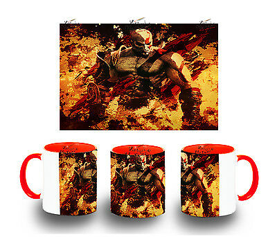 TAZA ROJA KRATOS GOD OF WAR MUG tazza tasse es