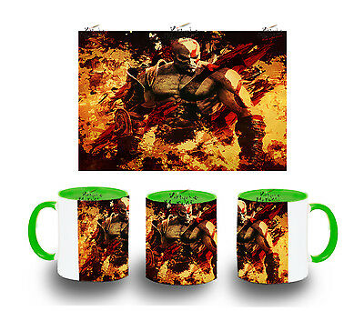 TAZA VERDE KRATOS GOD OF WAR MUG tazza tasse es