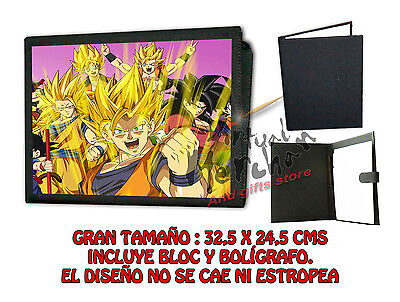 CARPETA DRAGON BALL SUPER GUERREROS LONETA NEGRA FOLDER bloc es